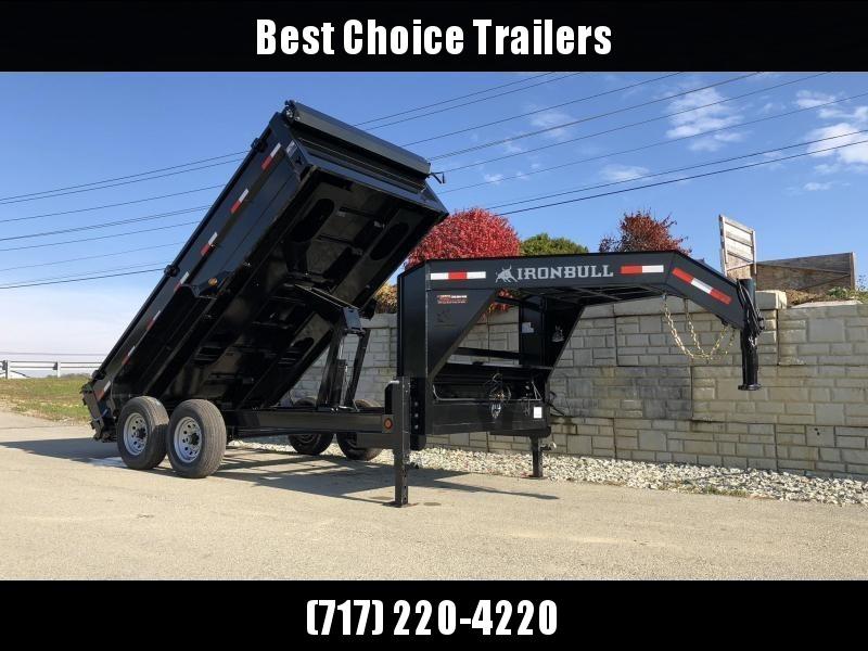 2019 Iron Bull 7x14' Gooseneck Dump Trailer 14000# GVW * CLEARANCE - FREE ALUMINUM WHEELS