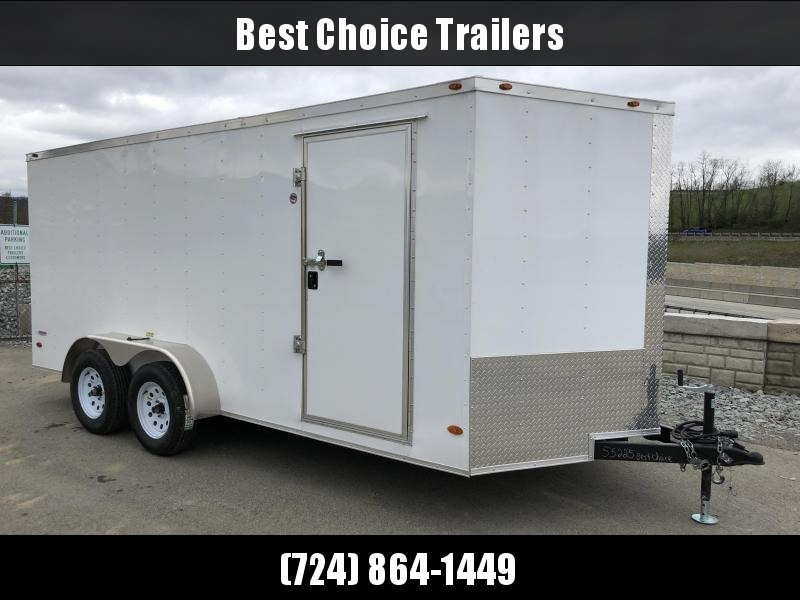 2018 Freedom 7x16' Enclosed Cargo Trailer 7000# GVW * CLEARANCE - FREE ALUMINUM WHEELS