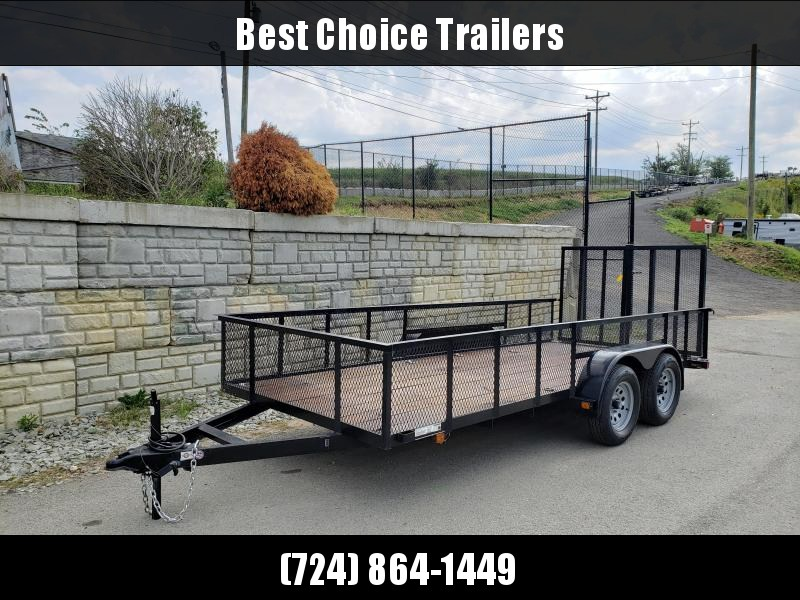USED 2012 Carry-On 6.5'x16' Mesh High Side Utility Landscape Trailer