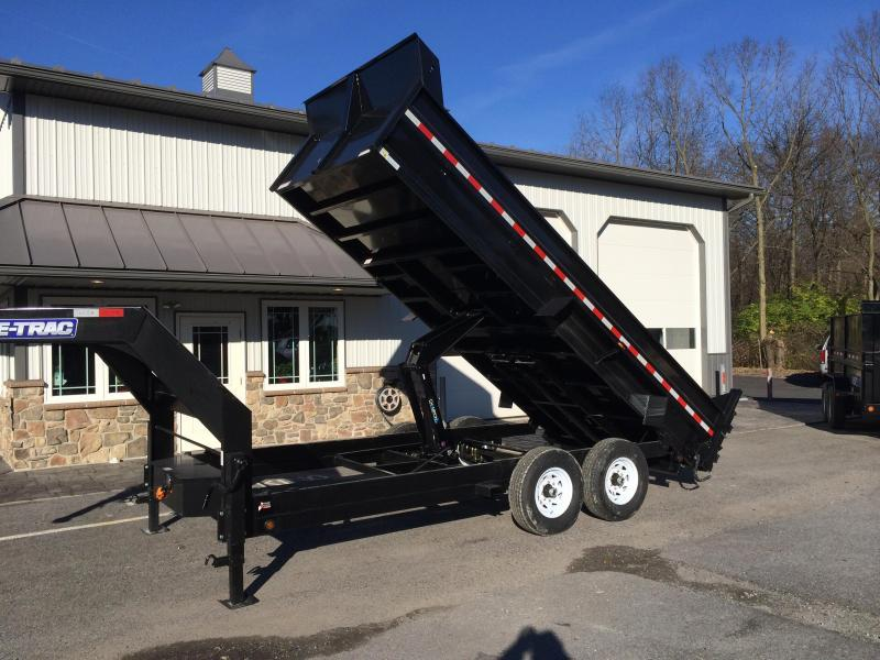 2017 Sure-Trac 7x16' 14000# Low Profile HD GOOSENECK Dump Trailer SCISSOR HD JACK/COUPLER