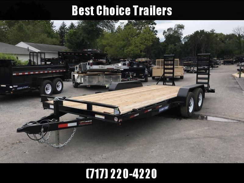 2019 Sure-Trac Implement 7'x18' Equipment Trailer 9900# GVW - ST8118IT-B-100
