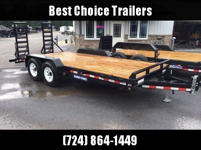 2018 Sure-Trac Implement 7'x18' Equipment Trailer 14000# GVW * CLEARANCE - FREE ALUMINUM WHEELS
