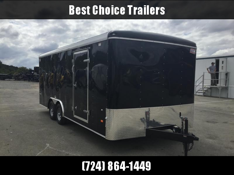 2018 American Hauler 8.5x20' Enclosed Car Hauler Trailer Ramp Door * CLEARANCE - FREE ALUMINUM WHEELS