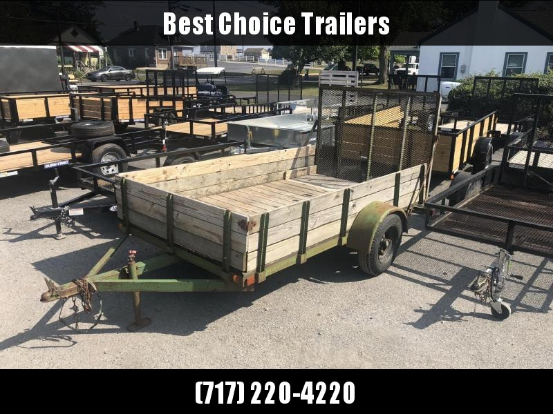 USED 5.5x10' High Side Utility Landscape Trailer 2990# GVW * WOOD SIDES * CHANNEL FRAME * TRIPLE TUBE TONGUE