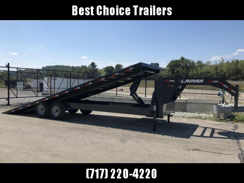 2019 Lamar GFA 102x26' Gooseneck Deckover Tilt Trailer 14000# GVW * 14-PLY TIRES & SPARE * SIDE TOOLBOX * OIL BATH * CHARCOAL POWDERCOAT & MORE
