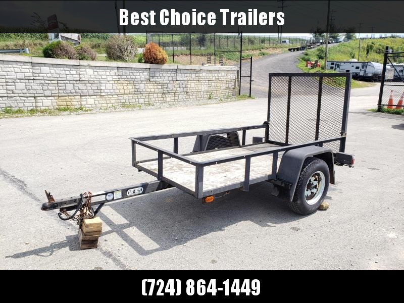 USED 2005 Car Mate Trailers 5'X8' Utility Landscape Trailer