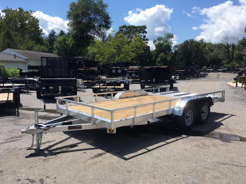 2018 QSA 7x16' 7000# GVW Aluminum Landscape Utility Trailer