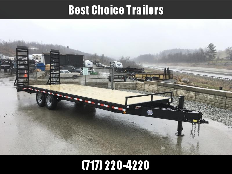 2018 QSA 102x20+4 HD LP Beavertail Deckover Trailer 12000#