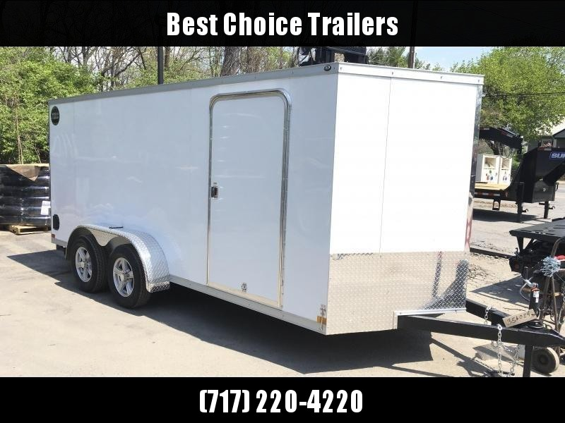 2018 Wells Cargo 7x16' VG500 Enclosed Cargo Trailer 7000# GVW * WHITE * CLEARANCE PRICED