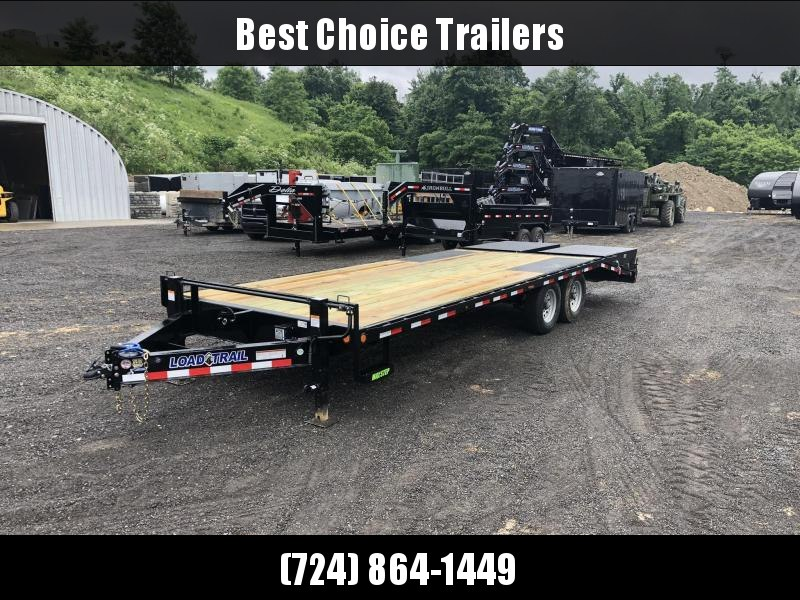 """2019 Load Trail 102x24' Load Trail Beavertail Deckover Flatbed Trailer 14000# GVW * FULL WIDTH RAMPS * I-BEAM FRAME * FRONT TOOLBOX * DUAL JACKS * PRIMER * DEXTER AXLES * 16"""" O.C. C/M * RUBRAIL/STAKE POCKETS/PIPE SPOOLS * CLEARANCE"""