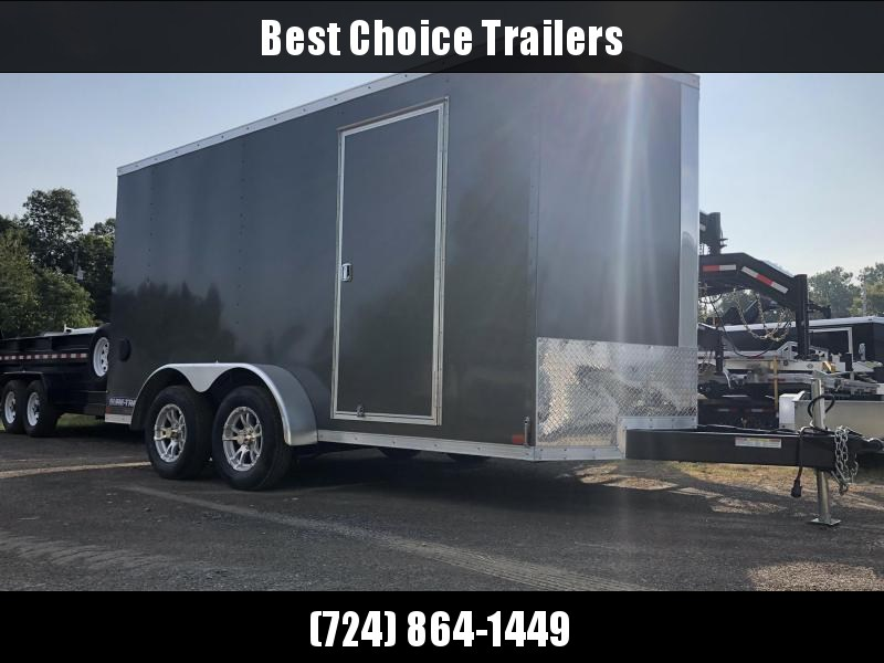2020 Sure-Trac 7x12' Enclosed Cargo Trailer 7000# GVW * CHARCOAL * RAMP DOOR