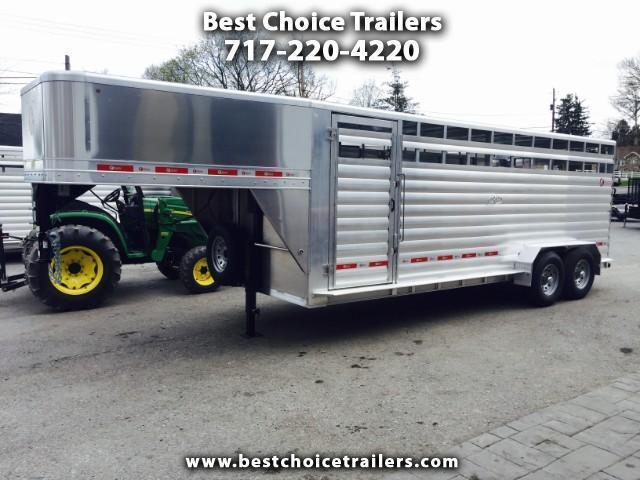 2018 Kiefer Manufacturing All-Aluminum Gooseneck Livestock Trailer 6