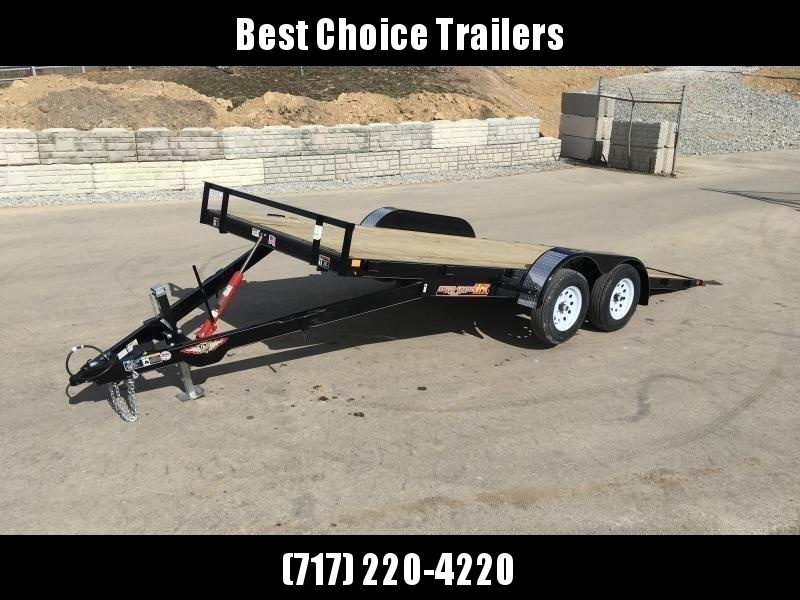 2018 H&H 7x20' MX Manual Tilt Car Hauler 9990# GVW * CLEARANCE - FREE ALUMINUM WHEELS
