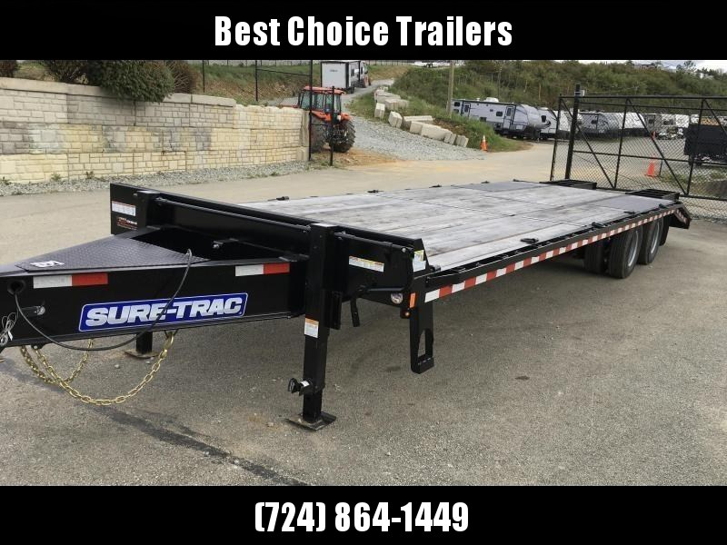 2018 Sure-Trac 102x25+5' HD LowPro Beavertail Deckover 25990# GVW * OAK BEAVERTAIL/OAK DECK/OAK RAMPS * PAVER SPECIAL * 12K AXLES * HUTCH SUSPENSION * DUAL JACKS * MUD FLAPS * EXTRA D-RINGS * INTEGRATED TOOLBOX * CLEARANCE