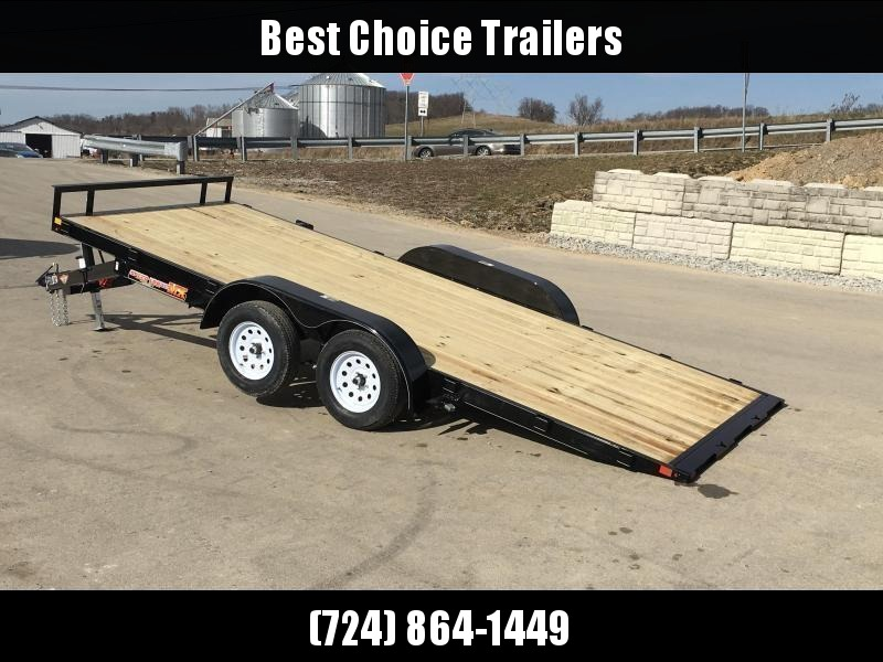 2019 H&H 7x20' EX Power Tilt Car Hauler 9990# GVW * POWER UNIT * DUAL TOOLBOXES * CLEARANCE - FREE ALUMINUM WHEELS