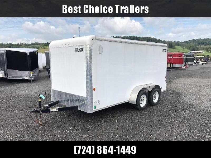 USED 2015 Car Mate 7x14' Enclosed Cargo Trailer 7000# GVW * E-TRACK * SCREWLESS