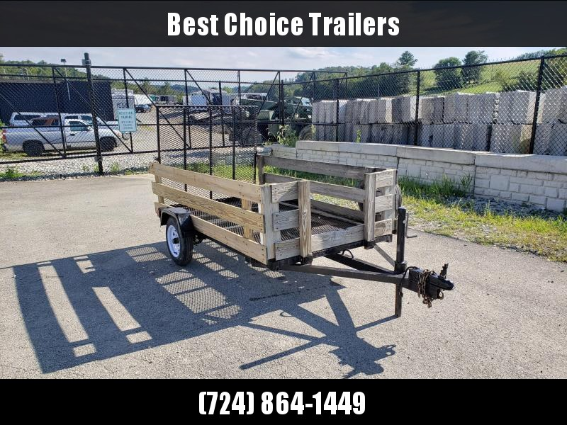 USED 1990 Nomanco 5'x8' High Side Utility Trailer