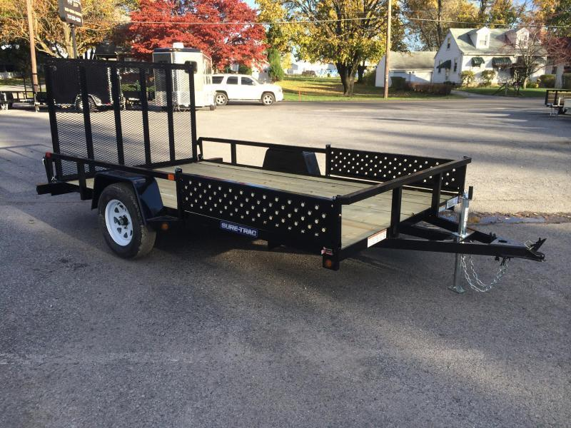2018 Sure-Trac 7x14' Tube Top Utility Trailer 2990# GVW - ATV RAMPS
