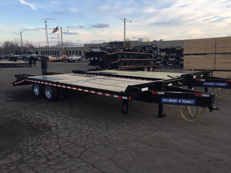2018 Sure-Trac 102x20+5 22K Pintle Beavertail Deckover Trailer Pierced Frame OAK DECK & RAMPS PAVER TRAILER