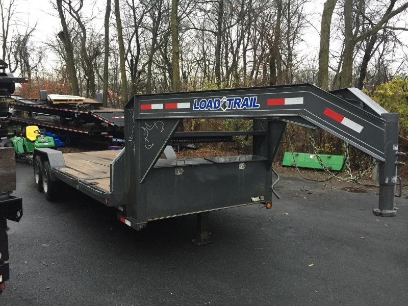 "USED 2015 Load Trail GG14 14000# Gooseneck Gravity TIlt Equipment Trailer Torsion Stop Valve 102"" DECK 17.5"" TIRES ETC."