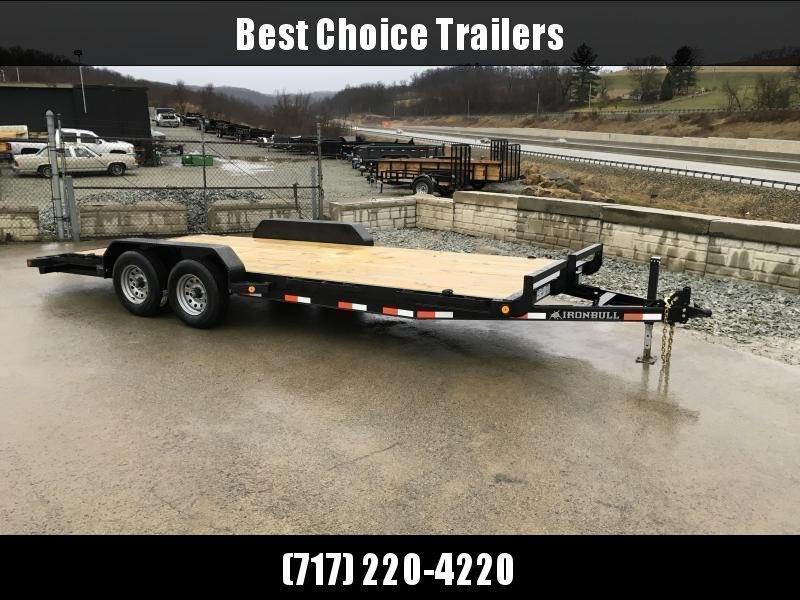 2018 Iron Bull 7x20' Wood Deck Car Trailer 14000# GVW * CLEARANCE - FREE ALUMINUM WHEELS