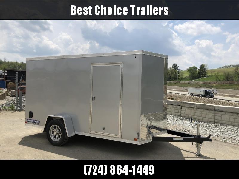 2018 Sure-Trac 6x12' STW Enclosed Cargo Trailer 2990# GVW * SILVER * RAMP DOOR