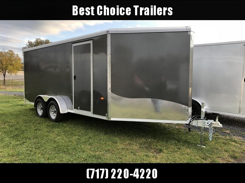 """2019 Neo 7x20' NASR Aluminum Enclosed All-Sport Trailer * CHARCOAL * FRONT RAMP * NXP LATCHES * FLOOR TIE DOWN SYSTEM * REAR JACKSTANDS * UPGRADED 16"""" OC FLOOR * UPPER CABINET * UTV * ATV * Motorcycle * Snowmobile"""