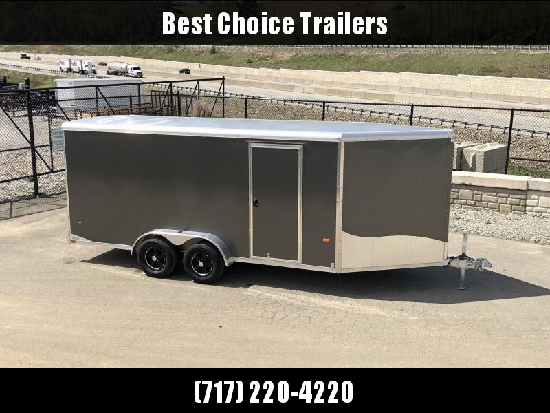 "2019 Neo 7x20' NASR Aluminum Enclosed All-Sport Trailer * CHARCOAL * FRONT RAMP * NXP LATCHES * FLOOR TIE DOWN SYSTEM * REAR JACKSTANDS * UPGRADED 16"" OC FLOOR * UPPER CABINET * UTV * ATV * Motorcycle * Snowmobile"