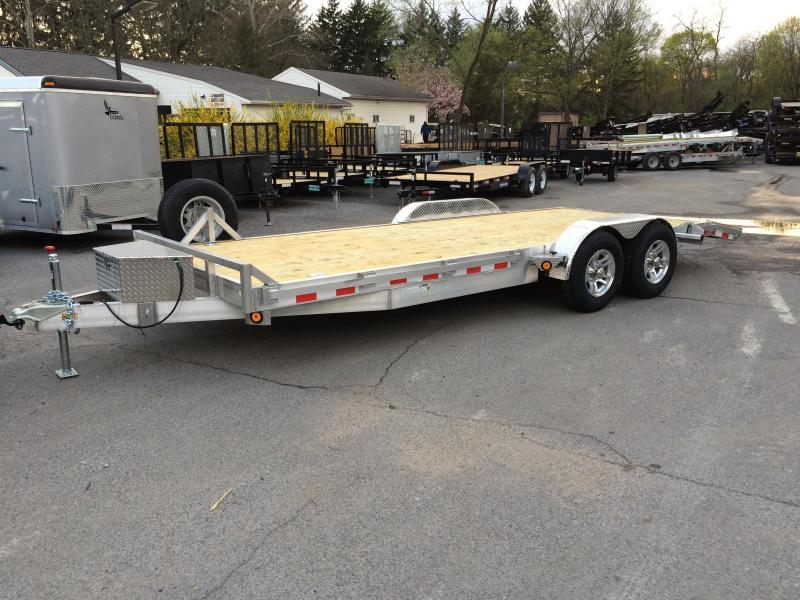 2017 QSA 7x20' Aluminum Car Trailer 9850# GVW TORSION