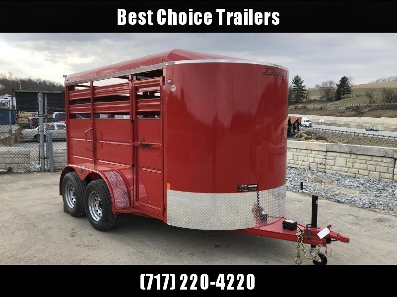 2019 Delta Manufacturing 12' Livestock Trailer * RED * CENTER DIVIDER * DEXTER'S