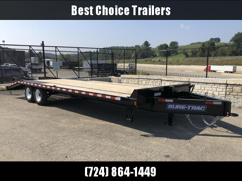 2018 Sure-Trac 102x20+5' Beavertail Deckover Trailer 15000# GVW * CLEARANCE - FREE ALUMINUM WHEELS