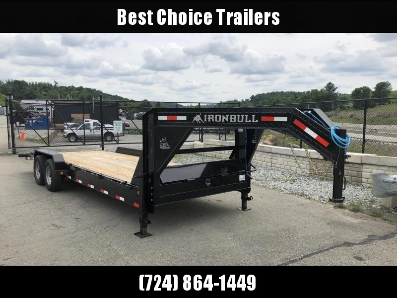2018 Ironbull 7x26' Gooseneck Car Hauler Equipment Trailer 14000# * WINCH PLATE * CLEARANCE - FREE ALUMINUM WHEELS