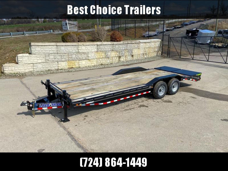 """2019 Load Trail 102x24' Equipment Trailer 14000# GVW * 102"""" DECK * DRIVE OVER FENDERS * 8"""" TONGUE & FRAME * DUAL JACKS * FULL WIDTH MAX RAMPS * RUBRAIL * DEXTER'S * 2-3-2 * POWDER PRIMER * CLEARANCE"""