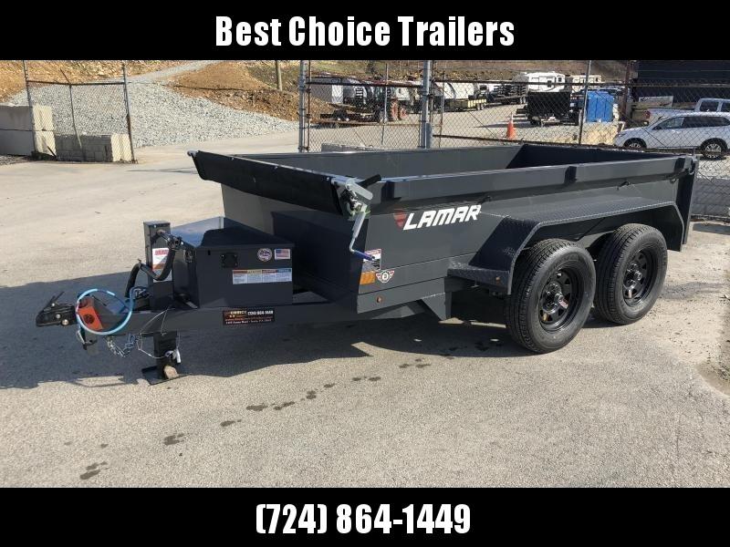 2018 Lamar 5x10' DS60 Dump Trailer 7000# GVW - DELUXE * 7K JACK * RAMPS * TARP * SPARE & MOUNT