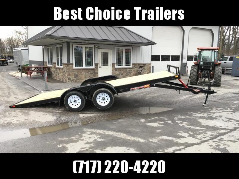 2018 H&H 7x20' MXC Manual Tilt Car Trailer 7000# GVW