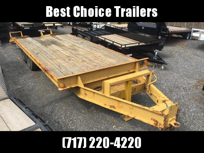 USED 18' Hudson Beavertail Deckover Flatbed Trailer 16000# GVW Stand Up Ramps