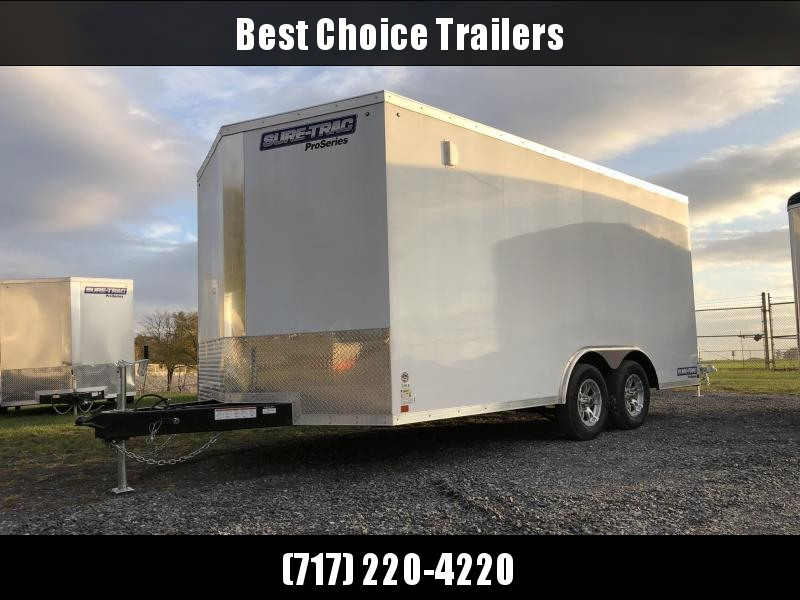 2018 Sure-Trac 8.5x16' Enclosed Cargo Trailer 7000# GVW * WHITE * CLEARANCE