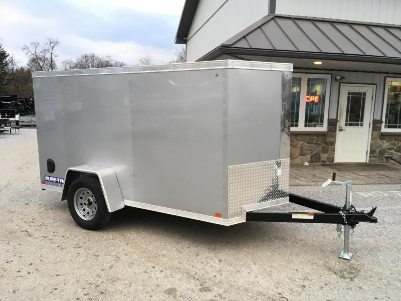 2018 Sure-Trac 5x10' V-Nose Enclosed Cargo Trailer 2990# GVW