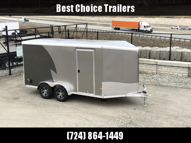 "2019 NEO Trailers 7X14' NAMR Aluminum Enclosed Motorcycle Trailer * CHARCOAL & PEWTER * VINYL WALLS * ALUMINUM WHEELS * +6"" HEIGHT"