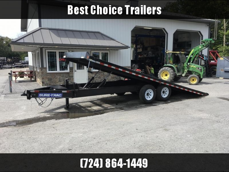 2018 Sure-Trac 102x22' Power Tilt Deckover 15000# GVW - DUAL JACKS MUD FLAPS