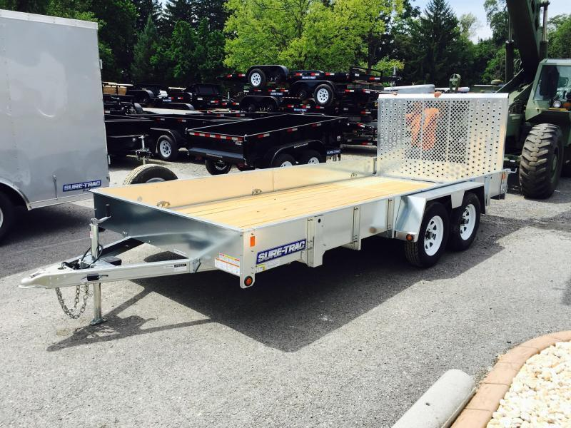2016 Sure-Trac 7X16' Galvanized High Side Landscape Utility Trailer 7000#