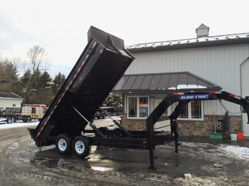 2017 Sure-Trac 7x14' 14000# Low Profile HD GOOSENECK Dump Trailer