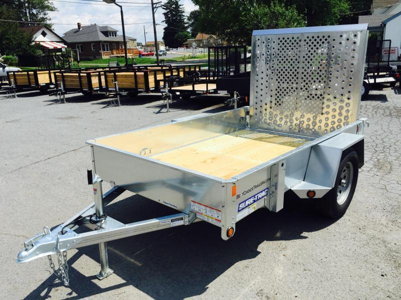 2018 Sure-Trac 5x8' Galvanized High Side Landscape Utility Trailer 2990# GVW