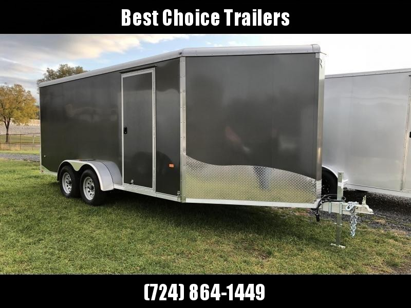 "2019 Neo 7x20' Aluminum Enclosed All-Sport Trailer * CHARCOAL * FRONT RAMP * NXP LATCHES * FLOOR TIE DOWN SYSTEM * REAR JACKSTANDS * UPGRADED 16"" OC FLOOR * UPPER CABINET * UTV * ATV * Motorcycle * Snowmobile"