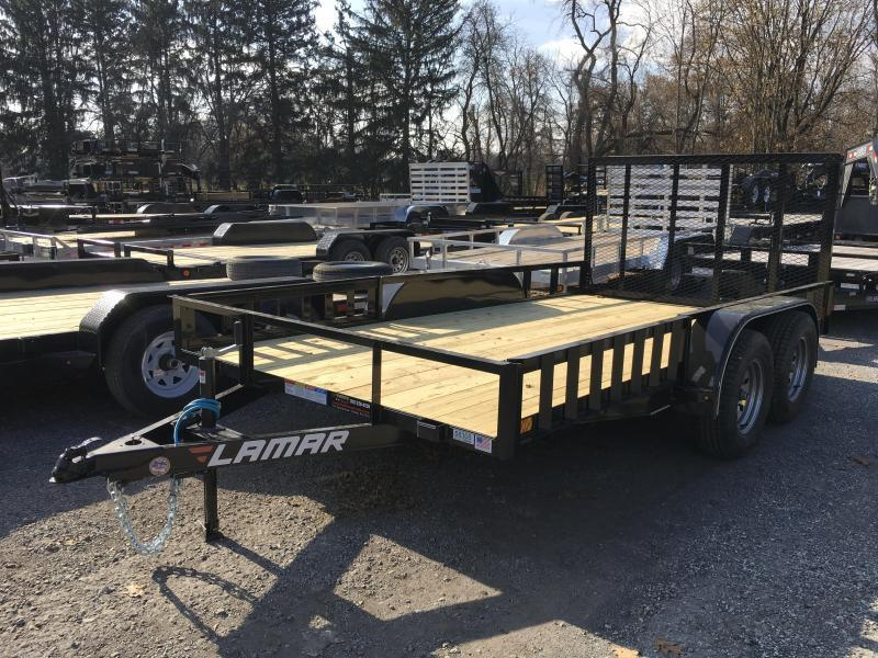 2018 Lamar 7x14' Utility Trailer 7000# GVW - ATV RAMPS - GRAY