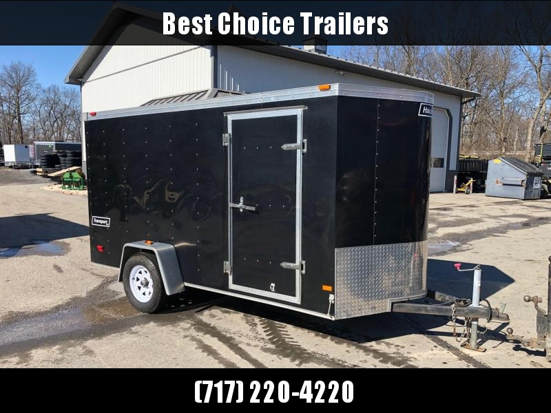 USED Haulmark Trade In Enclosed Cargo Trailer * V-NOSE * RAMP DOOR * BLACK