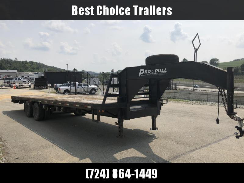 "USED 2009 Central 102""x30' Gooseneck Deckover 23000# GVW - Electric over Hydraulic Brakes"