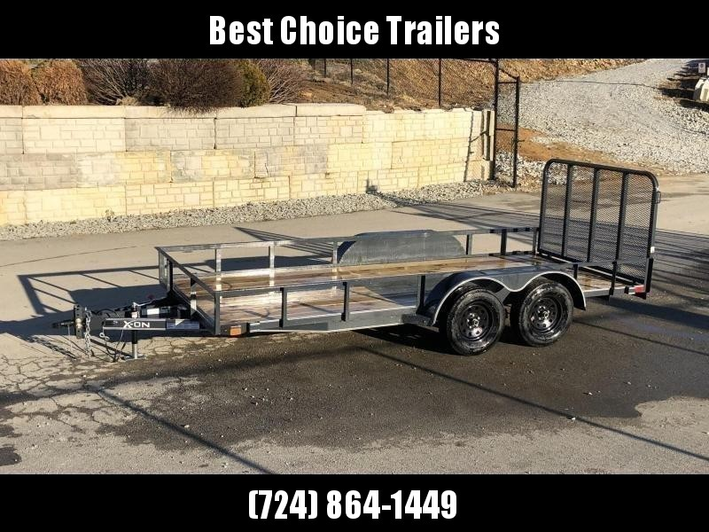 2019 X-On 77x16' Utility Landscape Trailer 7000# GVW * CHARCOAL * CLEARANCE