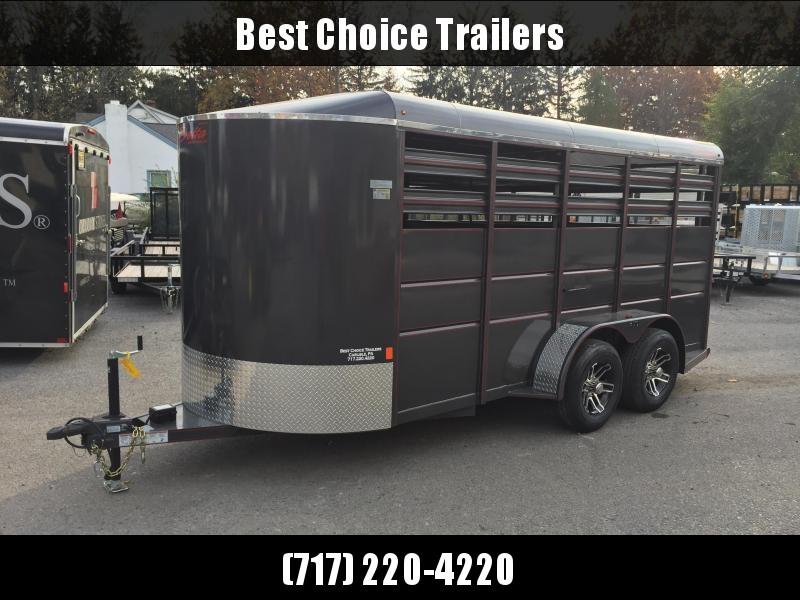 2019 Delta 500ES 16' Livestock Trailer 7000# GVW * BEIGE * CENTER GATE * DEXTER'S