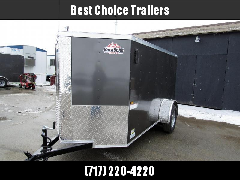 2018 Rock Solid Cargo 5X10SA Enclosed Cargo Trailer * CLEARANCE - FREE ALUMNIUM WHEELS